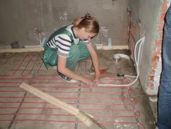 Монтаж электрического теплого пола в Владикавказе. электрический теплый пол
