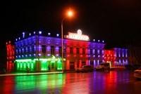 Наружное освещение: архитектурное освещение зданий, фасадов дома в Владикавказе